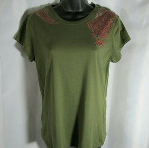 Lucky Brand Dragon Graphic Tee